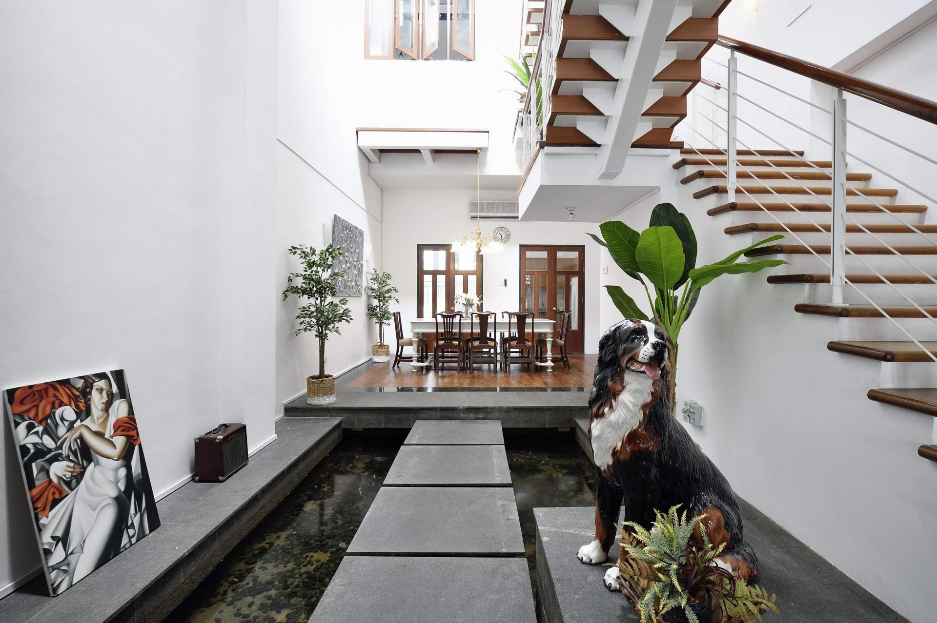 Communal pond area Cavenagh House Apartments, Kallang, Singapore