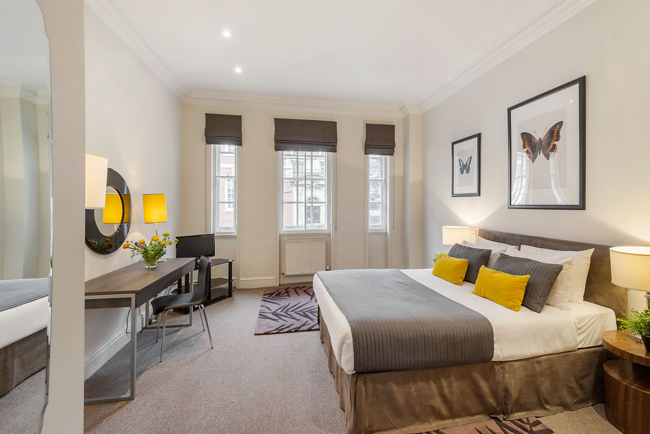 Bedroom at Chelsea - Draycott Place Apartments, Chelsea, London