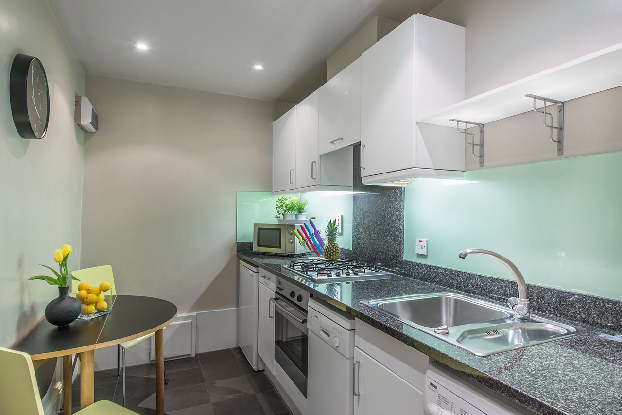 Modern kitchen at Chelsea - Draycott Place Apartments, Chelsea, London