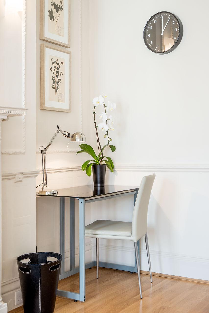 Work desk at Chelsea- Sloane Avenue Apartments, Chelsea, London