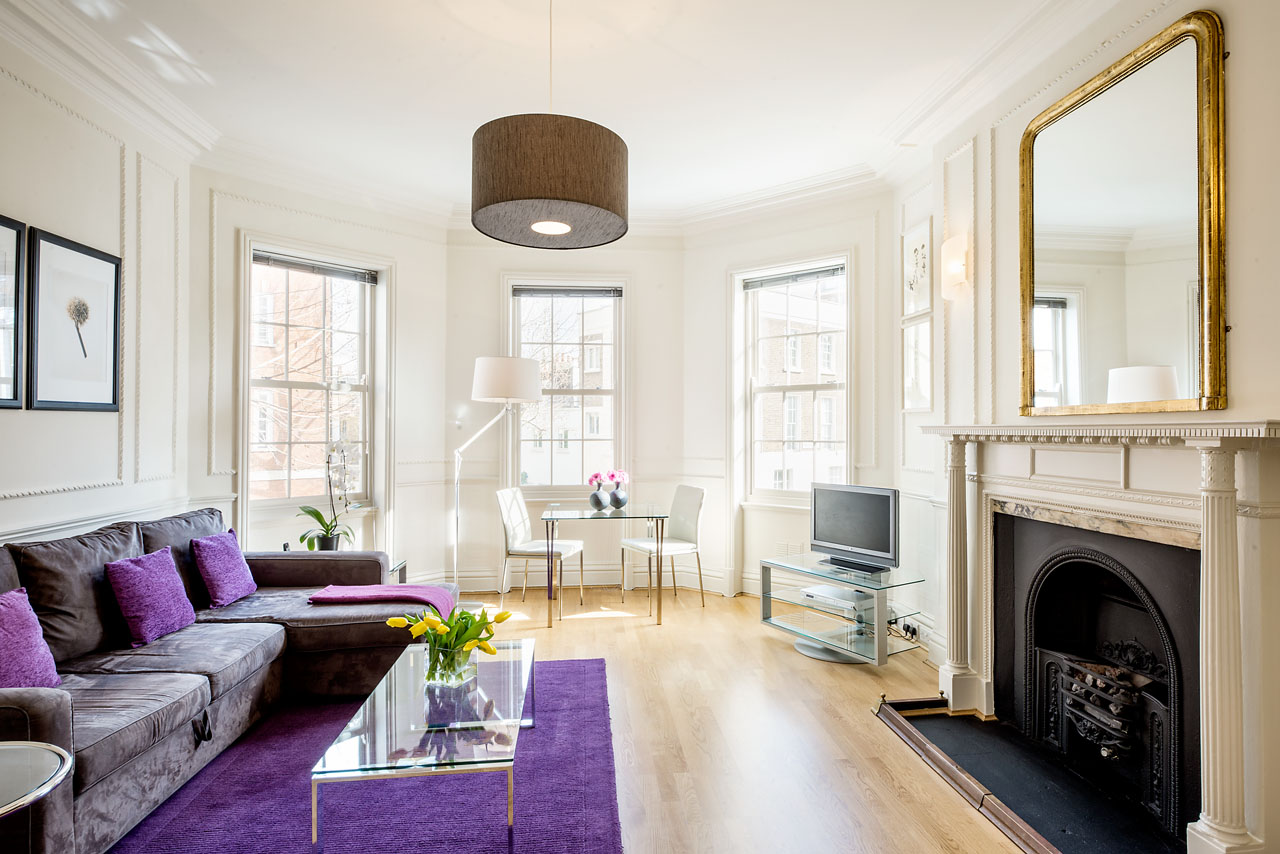 Fireplace at Chelsea- Sloane Avenue Apartments, Chelsea, London