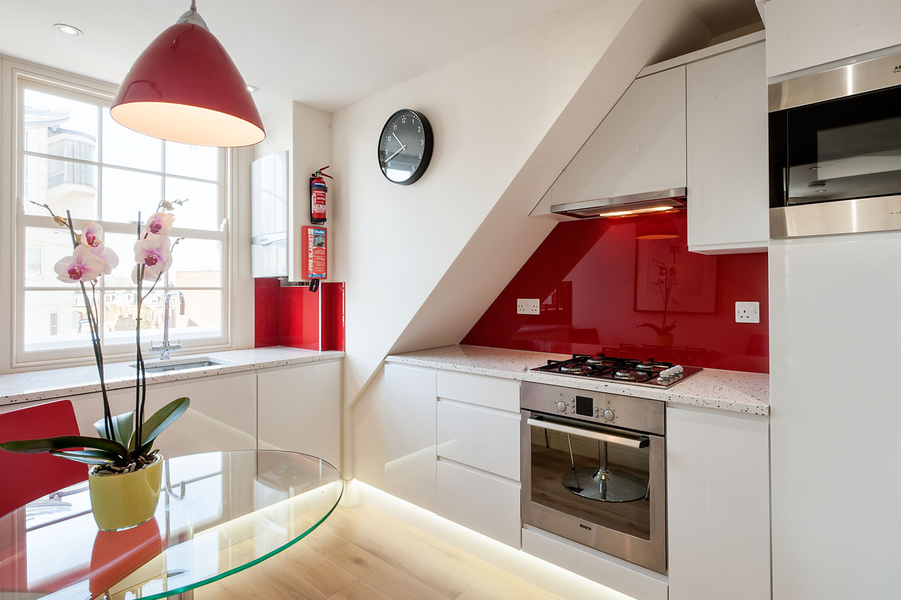 Modern kitchen at Chelsea- Sloane Avenue Apartments, Chelsea, London