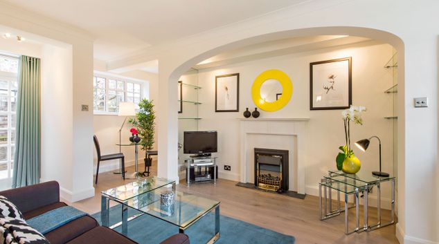 Living area at Chelsea - West House Apartment, Chelsea, London