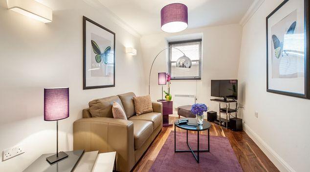 Living area at Marylebone - Chiltern Street Apartments, Marylebone, London