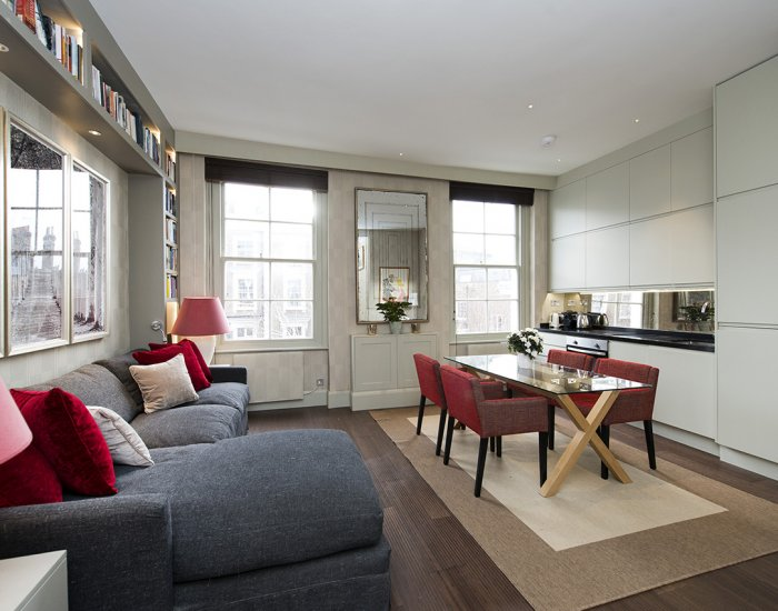 Living area at 10 Durham Terrace, Bayswater, London