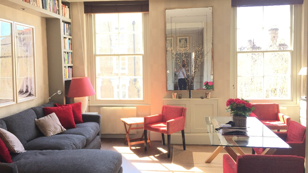 Sitting area at 10 Durham Terrace, Bayswater, London