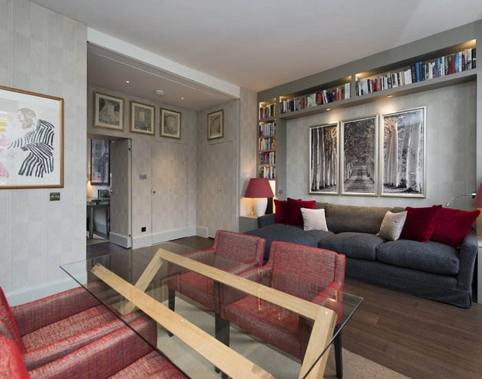 Open plan living area at 10 Durham Terrace, Bayswater, London