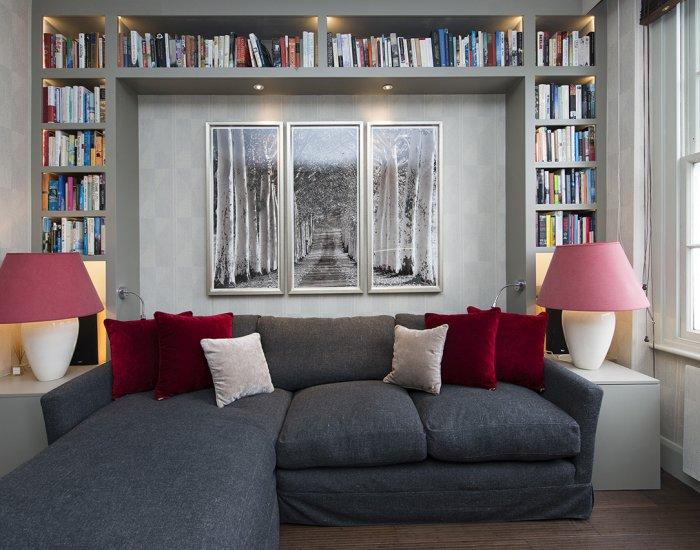 Cosy sofa at 10 Durham Terrace, Bayswater, London