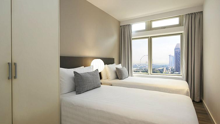Twin bedroom at PARKROYAL Serviced Suites Singapore