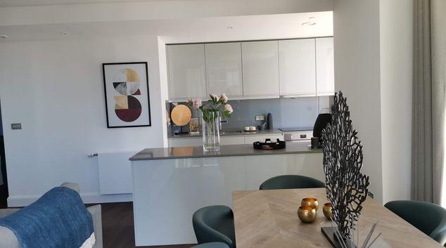 Living area at Charles Hope Canary Wharf, Canary Wharf, London