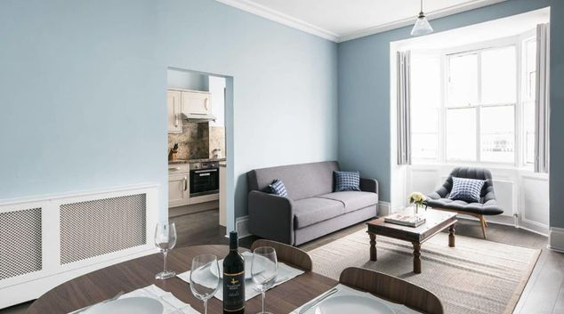 Living area at Gloucester Terrace Apartment, Paddington, London