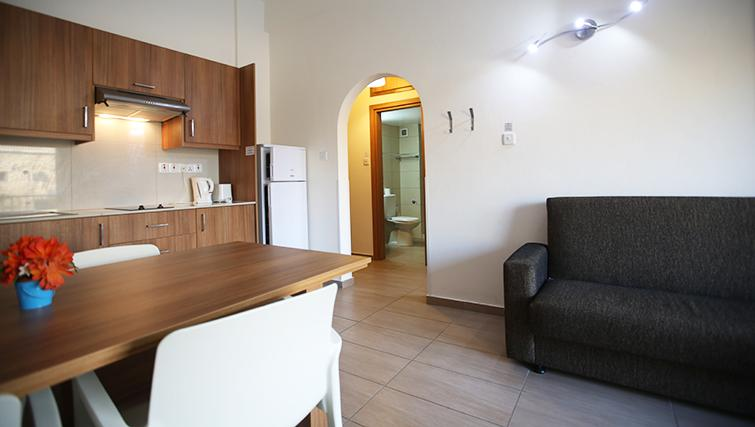 Kitchen/living area in Lucky Hotel Apartments