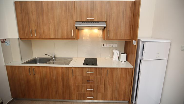 Kitchen at Lucky Hotel Apartments