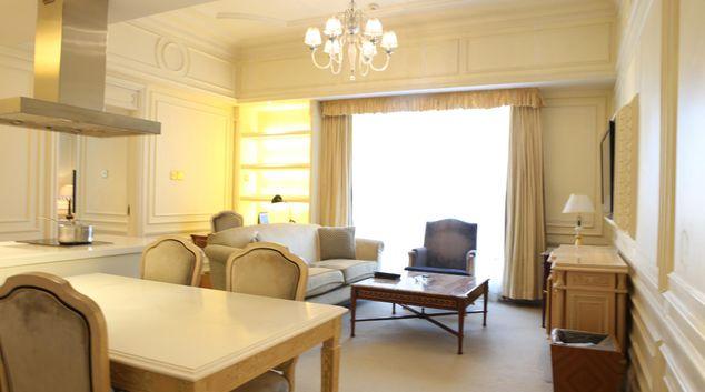 Living area at Legendale Apartments, Dongcheng District, Beijing