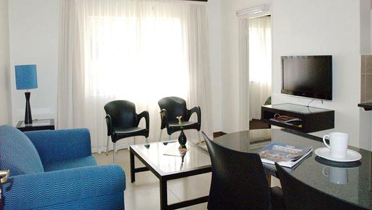Bright living area at Premiere Classe Suite Apartments