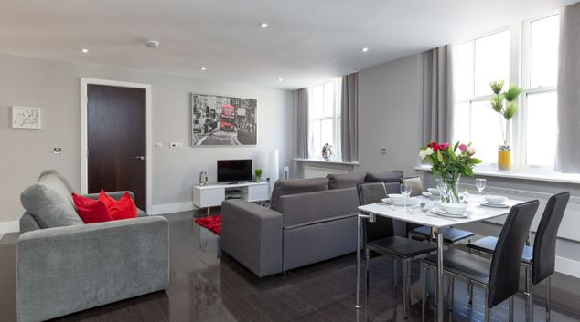 Lounge at Central City London - Liverpool Street Apartments, Liverpool Street, London
