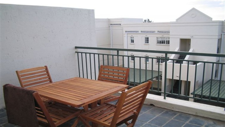 Elegant balcony at 254 West Road South Apartments