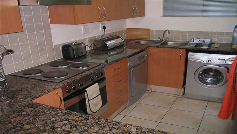 Practical kitchen in 77 Grayston Apartments