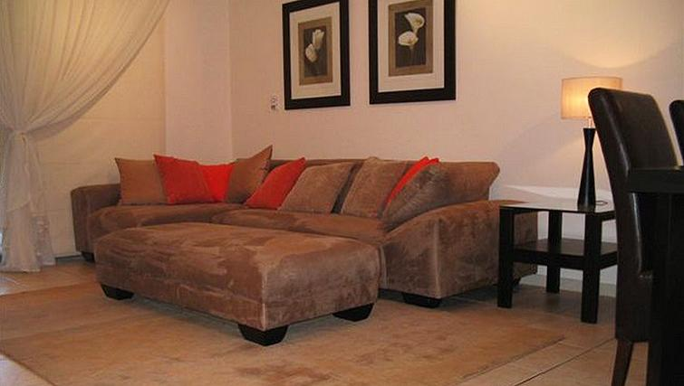 Cosy living area in 77 Grayston Apartments