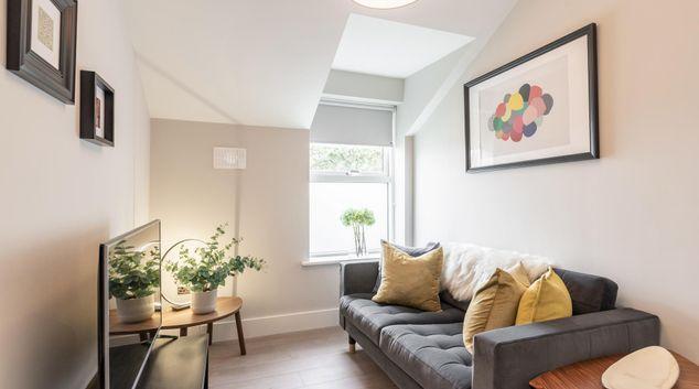 Living room at Sydenham Road Apartments, Ballsbridge, Dublin