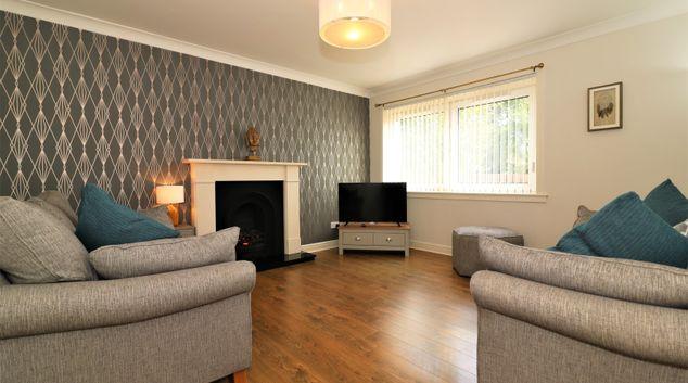 Living area at Park Lane House Apartment, Blantyre, Glasgow