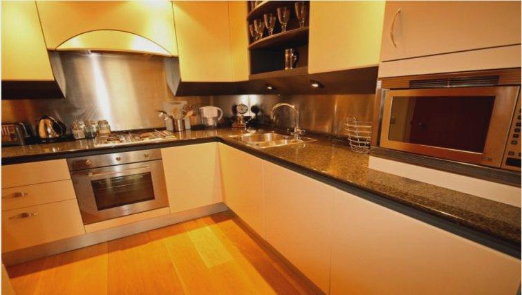 Contemporary kitchen at Canary Riverside