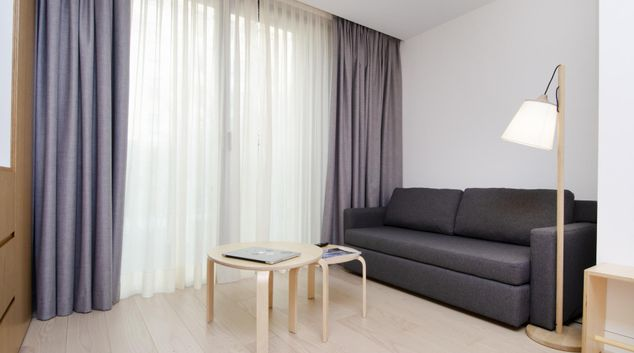 Living area at Hoom Apartments, Salamanca, Madrid
