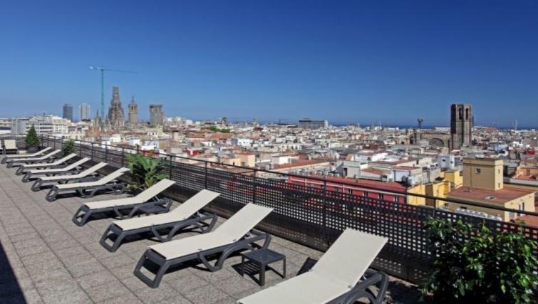 Balcony in Citadines Ramblas Apartments