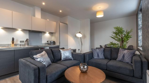 Living area at Princes Gate Residences, Centre, Solihull
