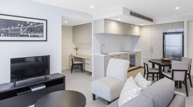 Living area at The Milton Brisbane, Milton, Brisbane