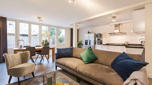 Living area at 133 Sarphati Apartments, Weesperbuurt en Plantage, Amsterdam