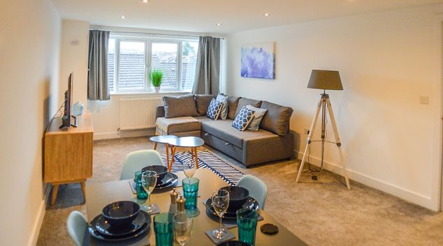 Open plan living at Anstey Heights Apartments, Upper Easton, Bristol