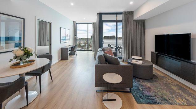 Living area at AVANI Adelaide Residences, Centre, Adelaide