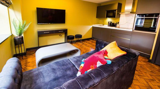 Living area at Maison Parfaite, Centre, Leeds