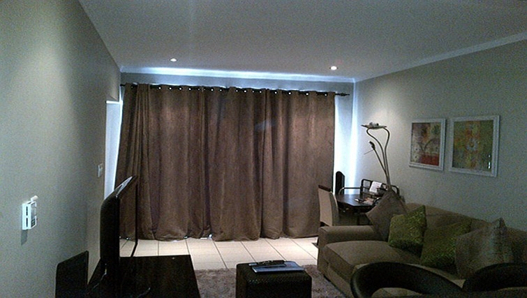 Cosy living area in Sandhurst Towers Apartments