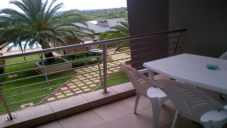 Relaxing balcony in Sandhurst Towers Apartments