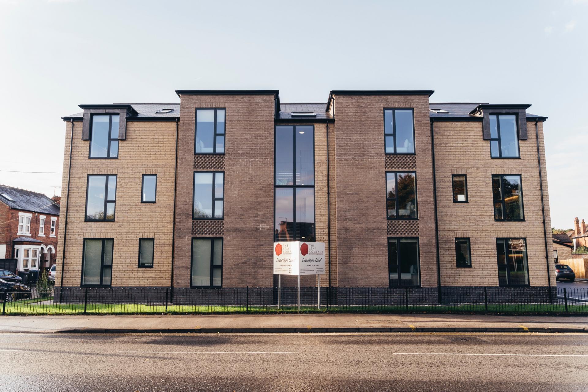 Exterior of Devonshire Court Apartments, West Bridgford, Nottingham