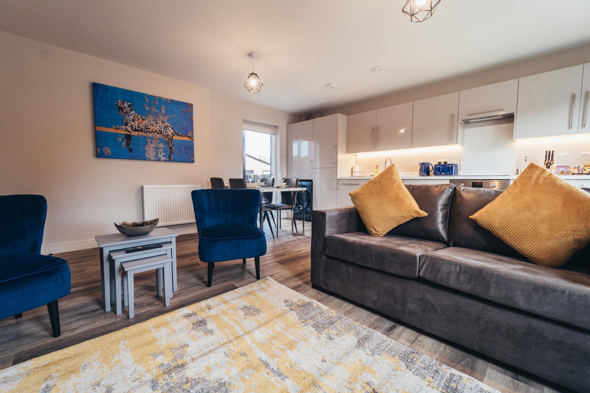 Living area at Devonshire Court Apartments, West Bridgford, Nottingham