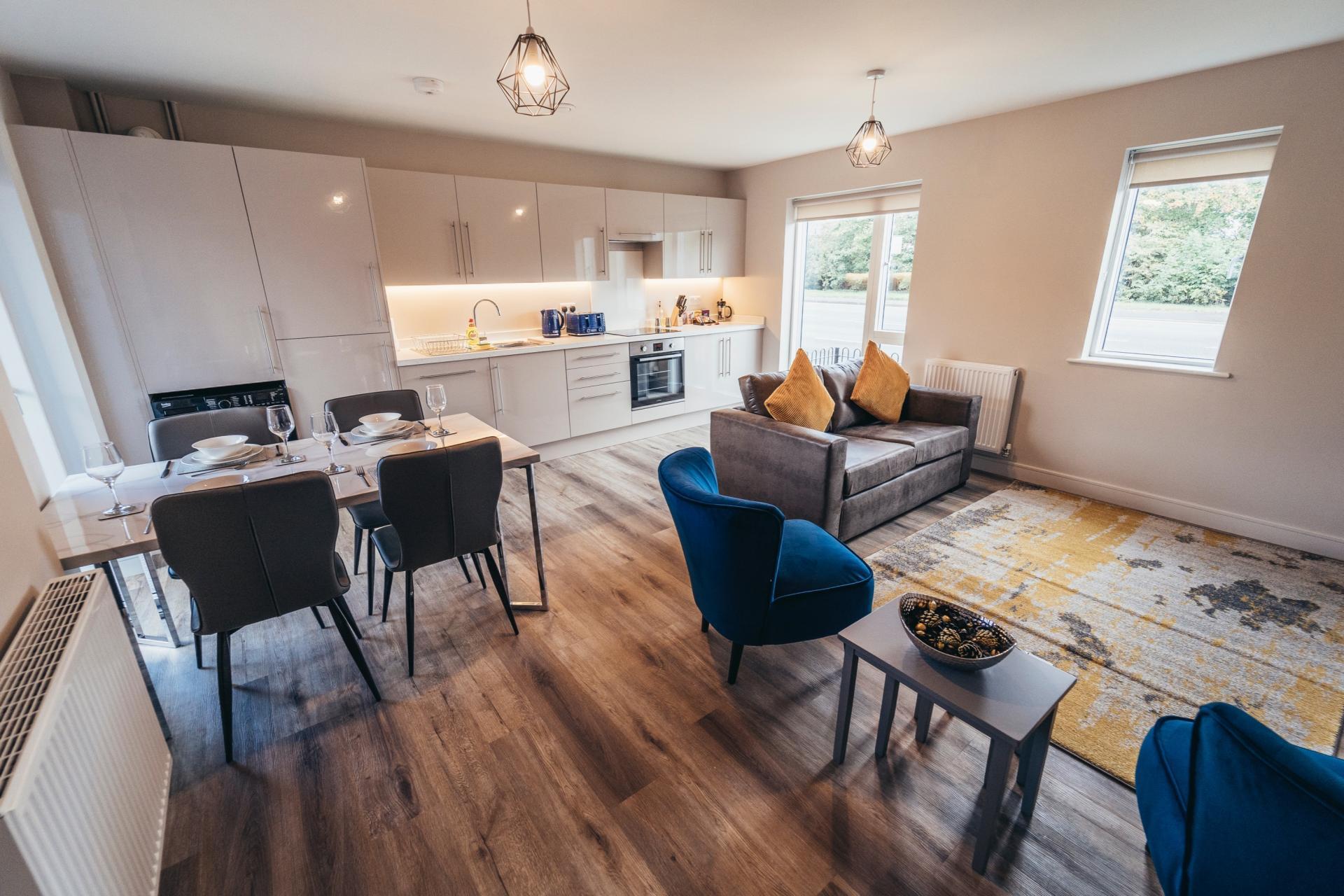 Dining area at Devonshire Court Apartments, West Bridgford, Nottingham