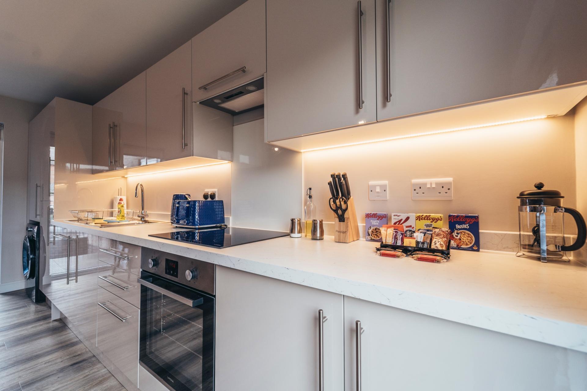 Kitchen at Devonshire Court Apartments, West Bridgford, Nottingham
