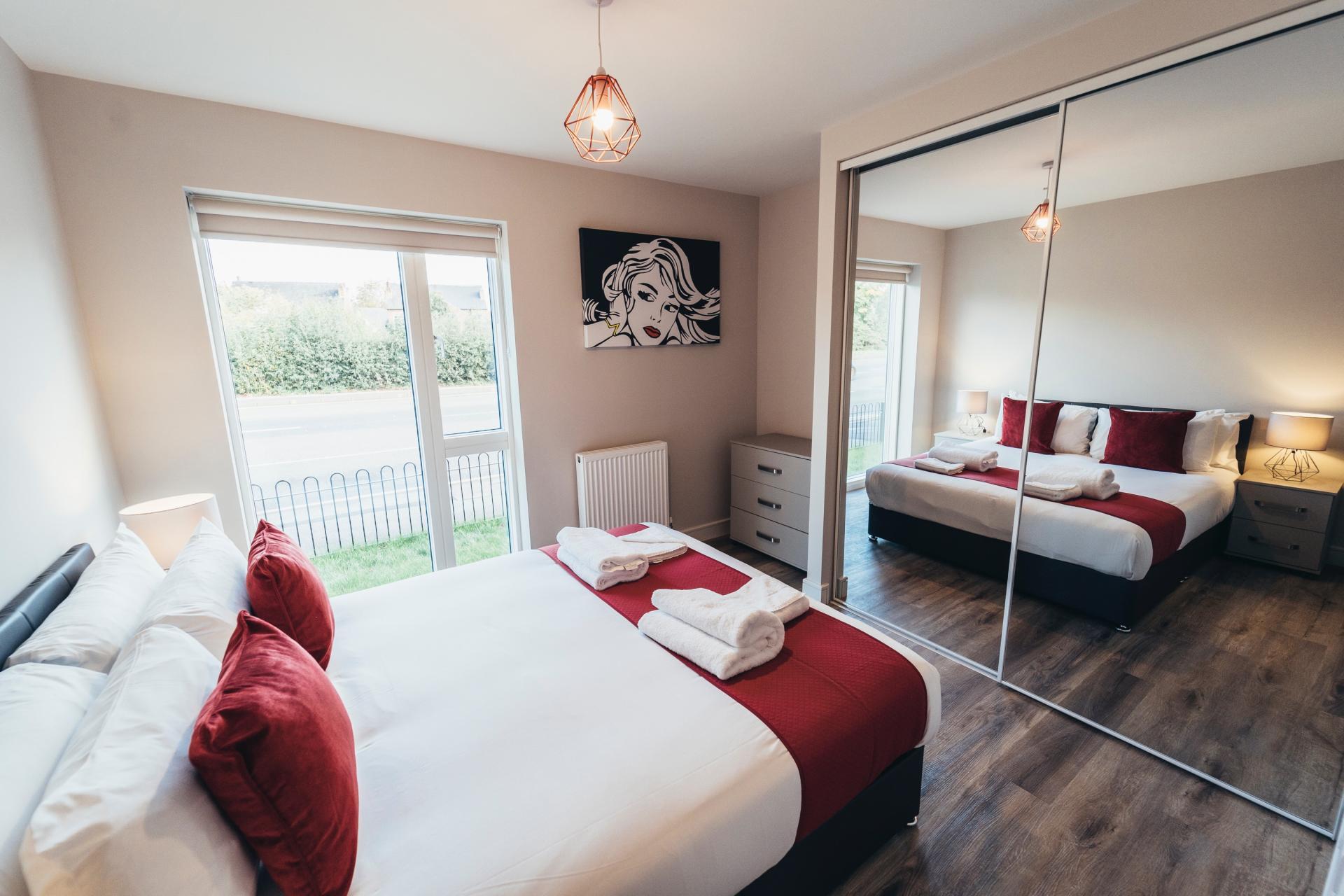 Bedroom at Devonshire Court Apartments, West Bridgford, Nottingham