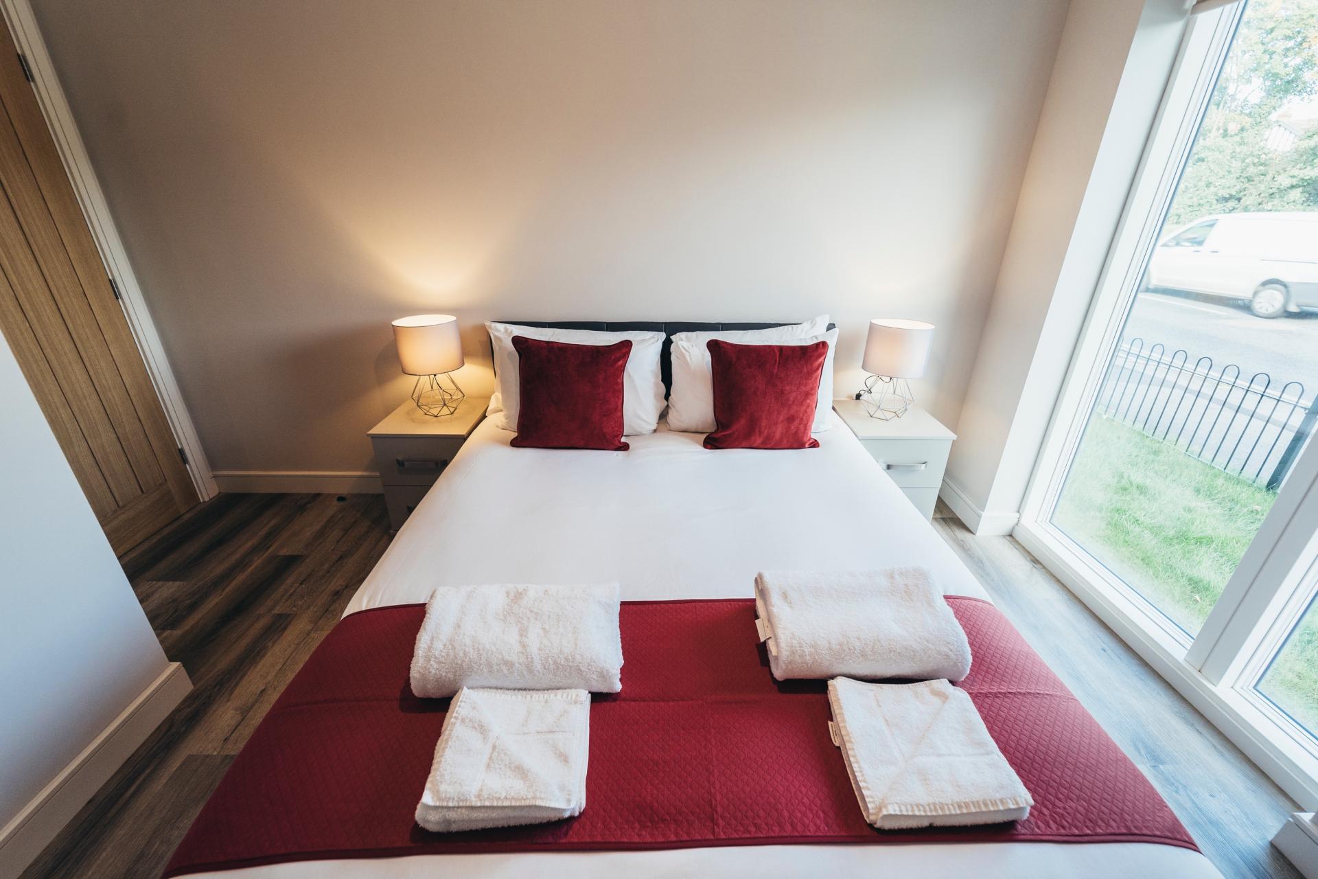 Bed at Devonshire Court Apartments, West Bridgford, Nottingham