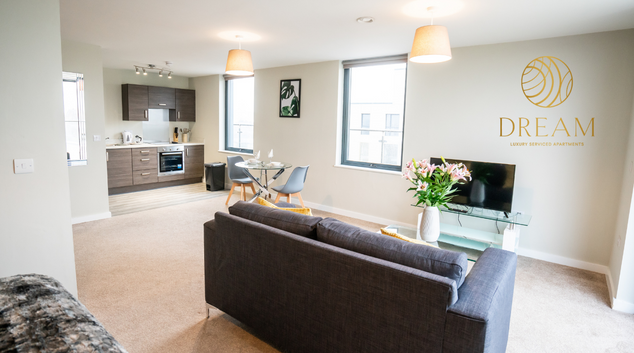 Living area at Dream Apartments Manchester