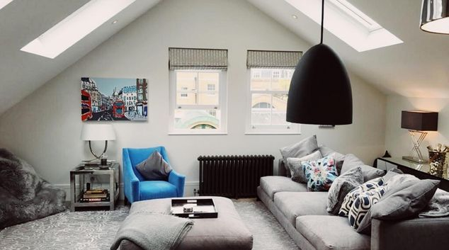 Living room at Old Chelsea Apartment, Chelsea, London