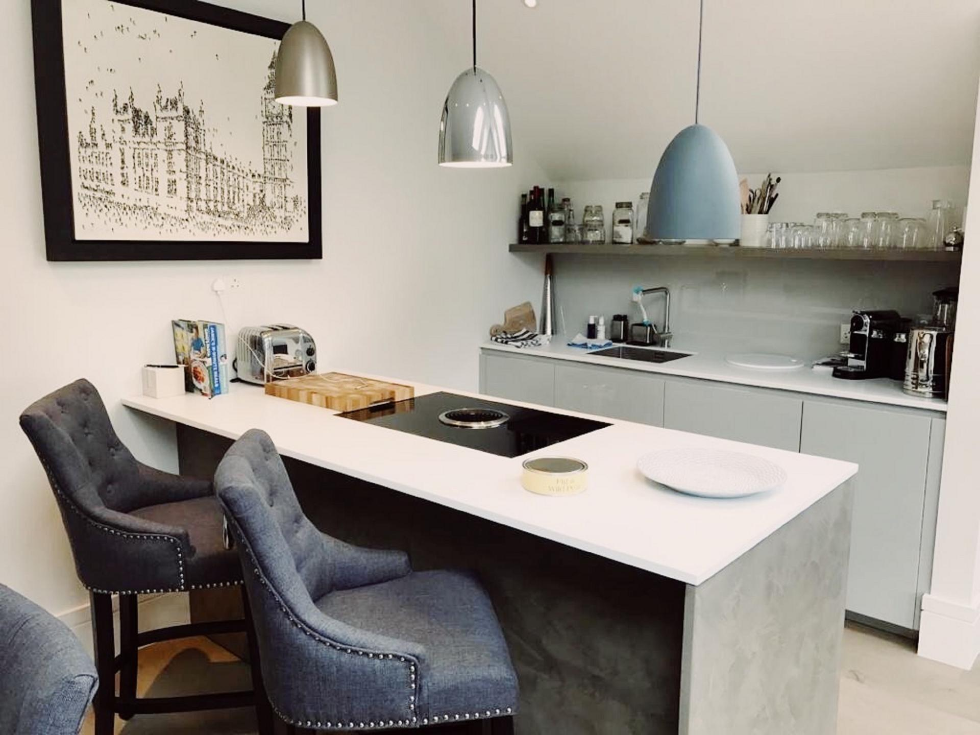 Kitchen dining at Old Chelsea Apartment, Chelsea, London