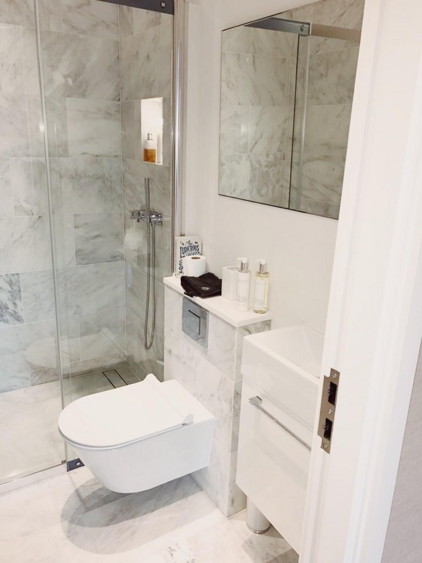 Shower at Old Chelsea Apartment, Chelsea, London
