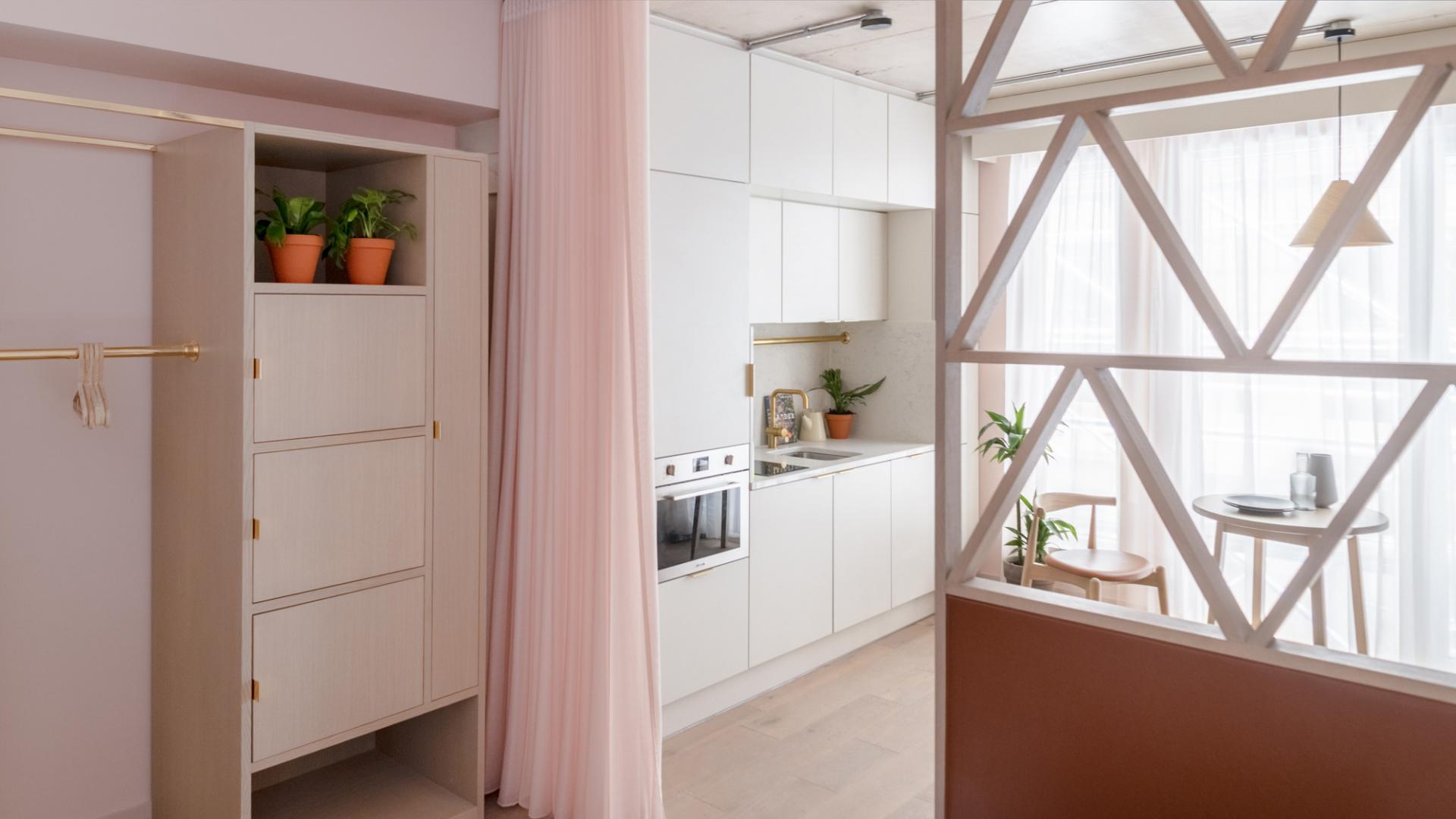 Bright kitchen at Zanzibar Locke Apartments, Centre, Dublin