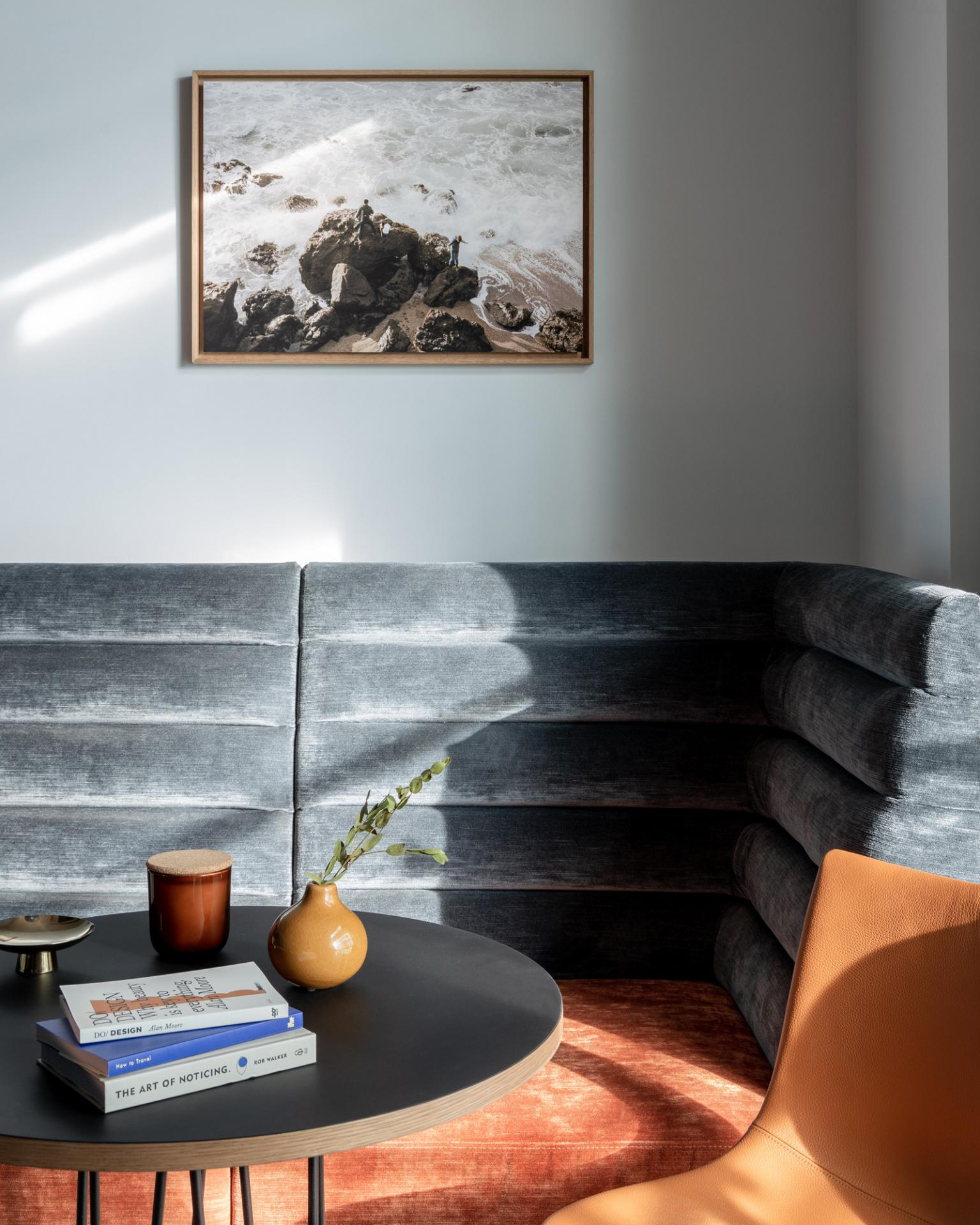 Sofa at Beckett Locke Apartments, North Wall, Dublin