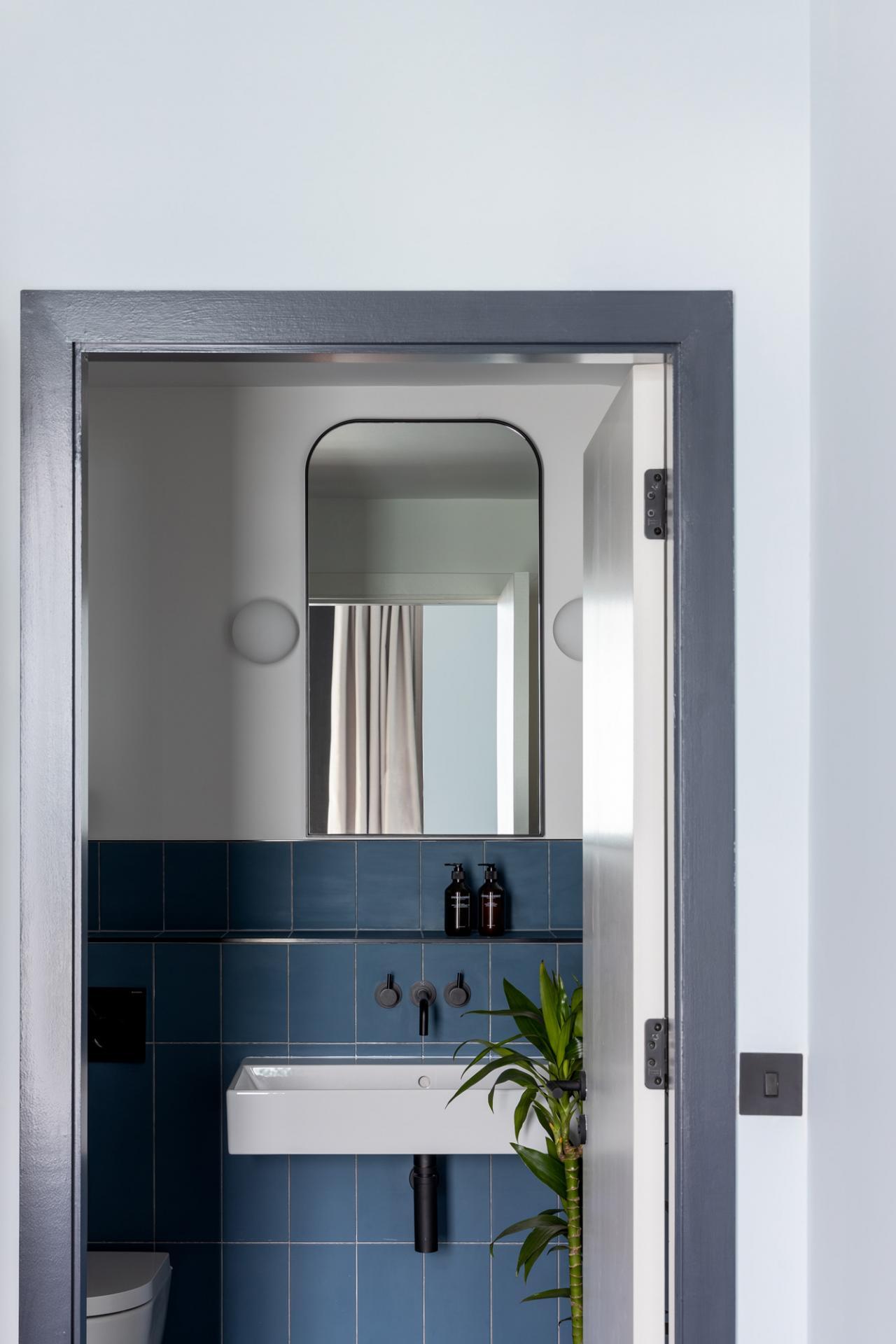 Bathroom at Beckett Locke Apartments, North Wall, Dublin