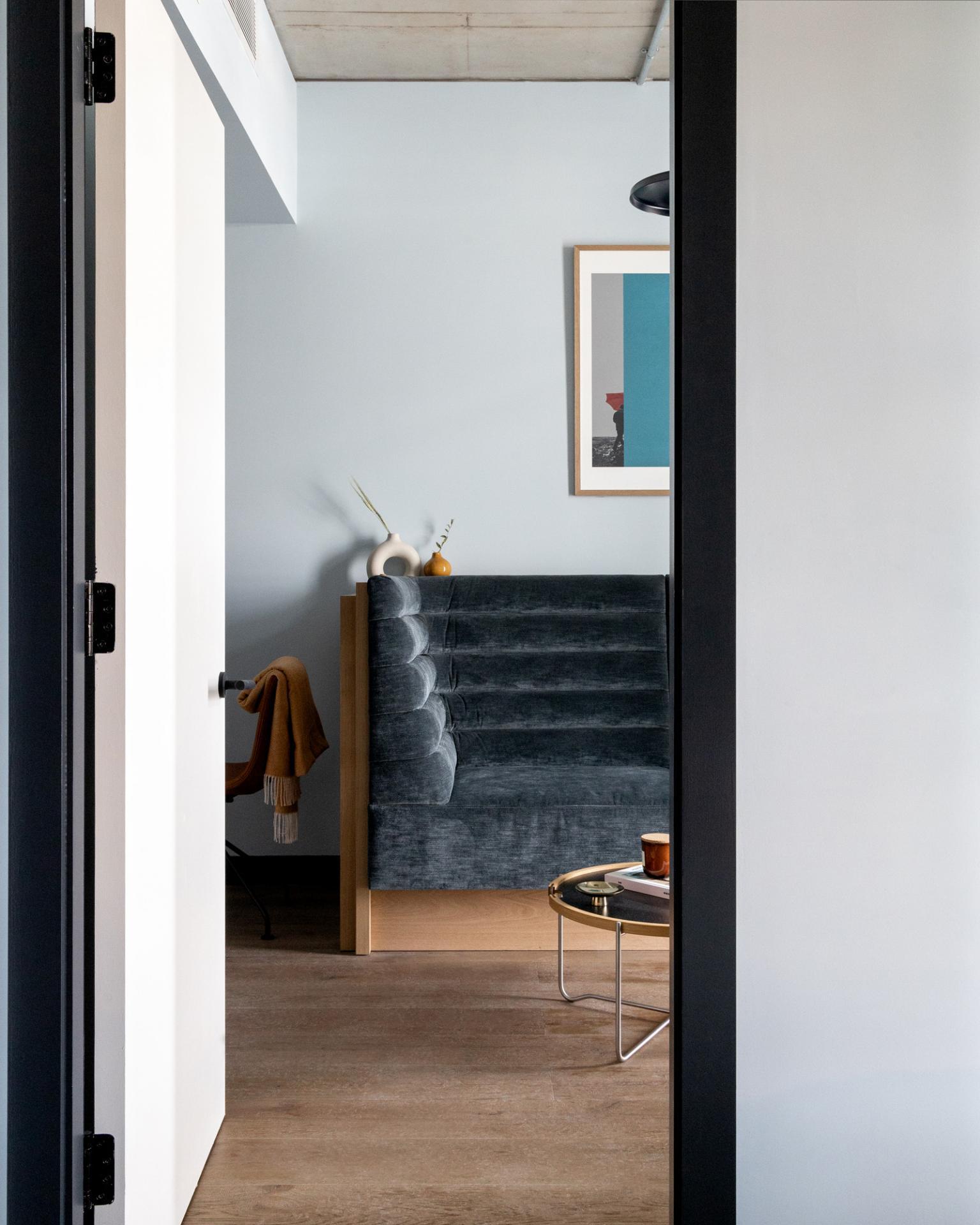 Living area at Beckett Locke Apartments, North Wall, Dublin